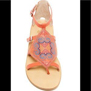 LATIGO Orange Embroidered Sandal